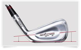 FT. WORTH IRONS PERIMETER WEIGHTING REDEFINED Mass is distributed behind the primary impact area of the face.