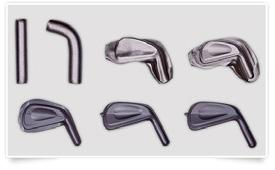 PROGRESSIVE WEIGHTING V-SOLE Combines high and low bounce in each club for versatile turf interaction.