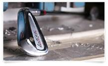 the entire range of lofts. Longer irons have a lower center of mass and the scoring irons a higher center of mass.