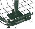 ENGLISH Assembling 1. Choose on which the side drip stand should be assembled on. 2. Assemble a clamp between the pipe of the front part and grating (screws to the outside and clamp upwards). 3.