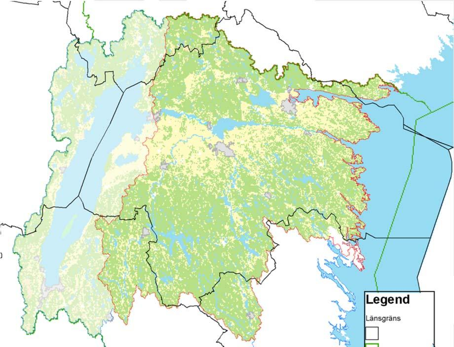 Water characteristics of Östergötland Catchment area: 15 481 km² 2200 lakes 3750 km of rivers