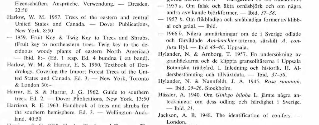 Gordon, G. 1880. The Pinetum: being a synopsis of all the coniferous plants at present known with de scriptions, history and synonyms. Ed. 3. London. Gram, K. & Jessen, K. 1960.