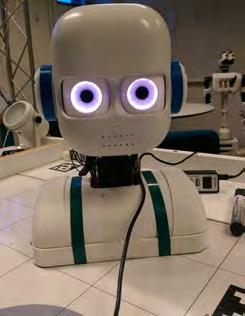 2.3 Epi and the Ikaros system The robot most commonly employed in interaction studies at Lunds University Robot Group is Epi (Fig.5).