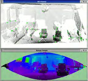 Another use case is to map the surrounding environment cropping together a number of point clouds into one 360 degrees point cloud.