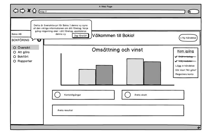 4. Process Figure 4.11: A view from the Balsamic Mockups prototype.